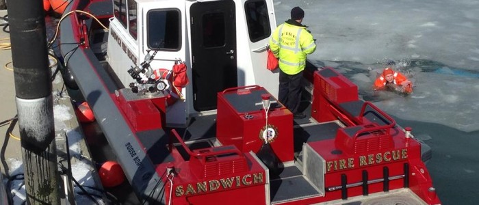 Sandwich Fire Department on Ice
